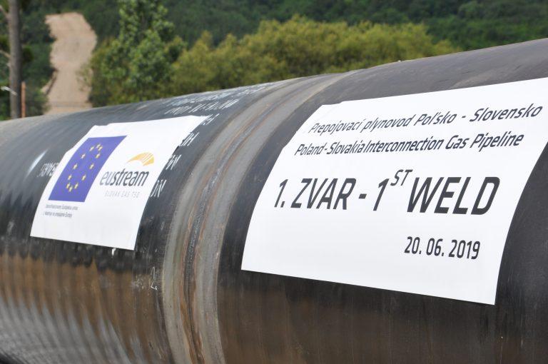 Prvý zvar Prepojovacieho plynovodu Poľsko – Slovensko
