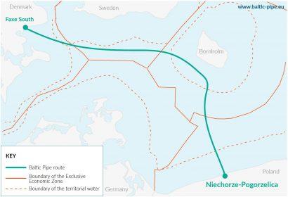 Poľský Gaz-System začína skladením potrubí úseku plynovodu Baltic Pipe vBaltskom mori